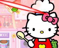 Игра Хэлло Китти порежь еду онлайн