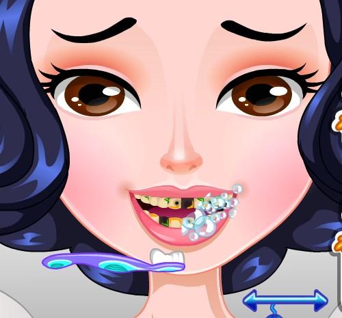 Игра Белоснежка у стоматолога онлайн