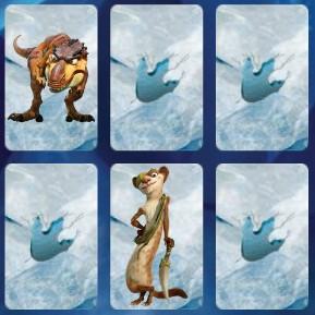 Игра Ледниковый период парные карты онлайн