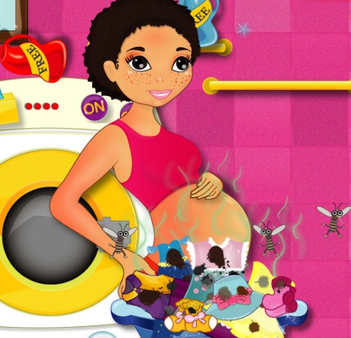 Игра Стирка беременной онлайн