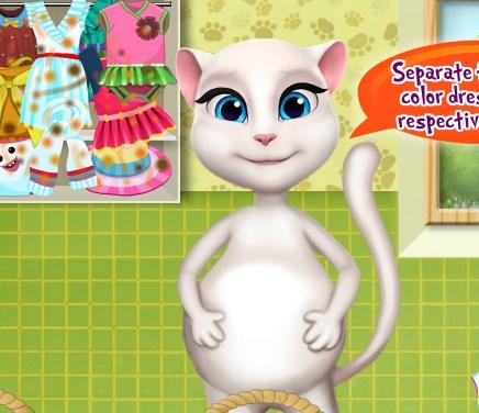 Игра Беременная Анжела стирка онлайн