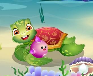 Игра Ухаживай за черепашкой онлайн