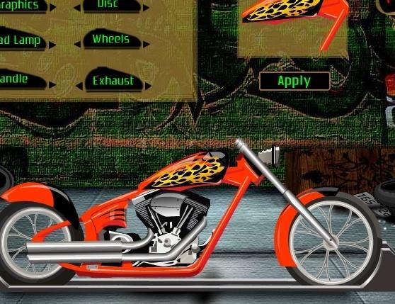 Игра Крутой мотоцикл онлайн