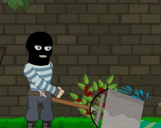 Игра Неуклюжий грабитель онлайн