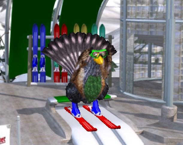 Игра Курица на лыжах онлайн