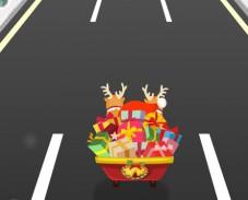 Игра Сумасшедшие гонки Санты онлайн