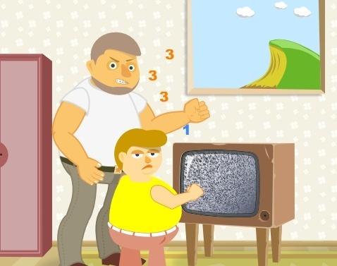 Игра Поломай телевизор онлайн