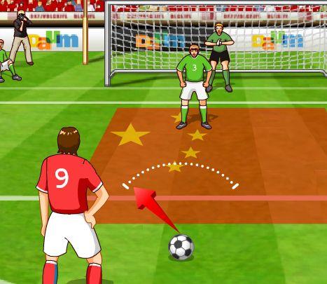 Игра Футбольные пенальти онлайн