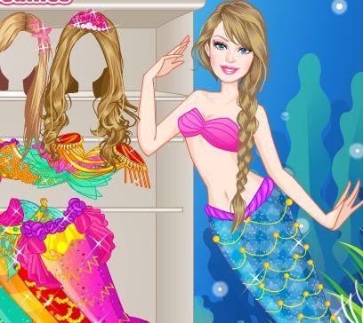 Игра Барби принцесса русалок онлайн