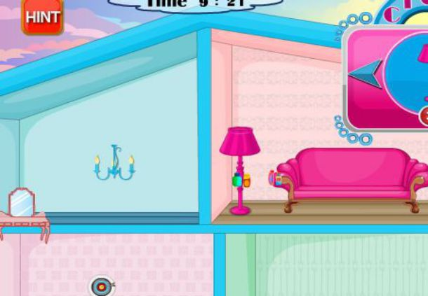 Игра Оформление кукольного домика - играй онлайн