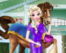 Игра Эльза в конюшне онлайн