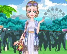 Игра Уличная одевалка модницы онлайн