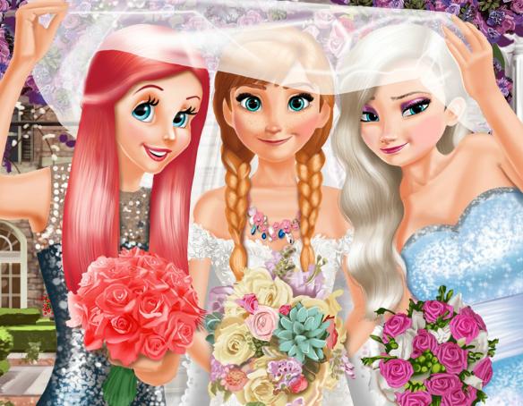 Игра Анна и свадьба принцесс онлайн