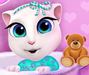 Игра Малышка Анжела купается онлайн