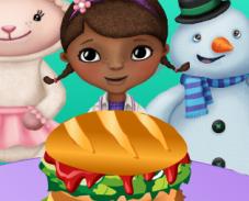 Игра Доктор Плюшева готовит еду онлайн