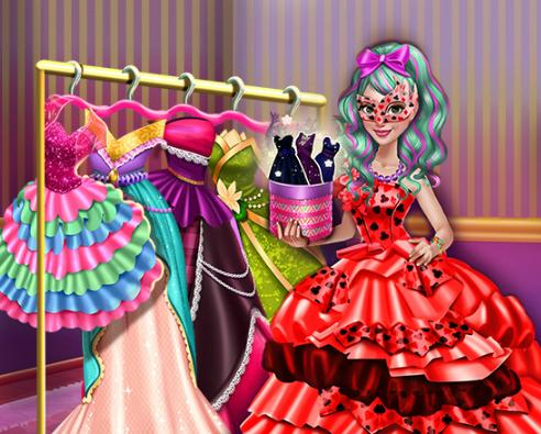 Игра Одевалка куколки на карнавал онлайн