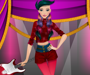 Игра Девочка на сцене онлайн