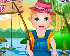 Игра Девочка ловит рыбу онлайн