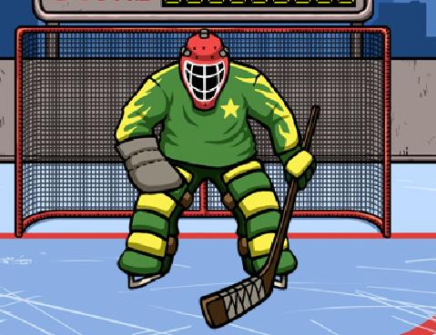 Игра Хоккей: Тренировка вратаря онлайн