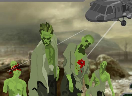 Игра Пулемётчик против зомби онлайн