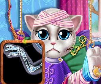 Игра Кошка Анжела в Госпитале онлайн