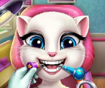 Игра Кошка Анжела у Дантиста онлайн