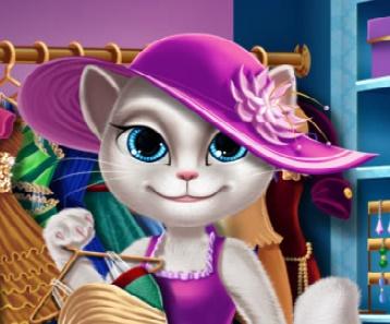 Игра Гардероб Кошки Анжелы онлайн