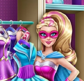 Игра Шкаф Супер Барби онлайн