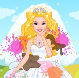 Игра Свадебное Фото с Барби онлайн