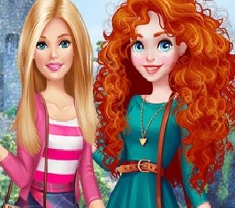 Игра Барби в Гостях у Мериды онлайн