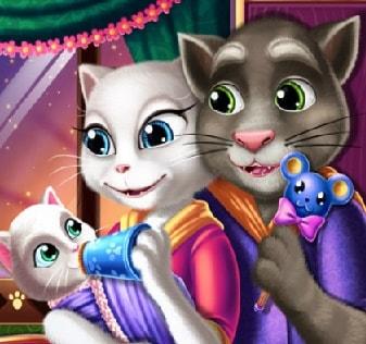Игра Анжела и Том Кормят Малыша онлайн