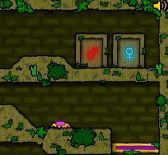 Игра Огонь и Вода Лесной Храм онлайн