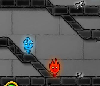 Игра Огонь и Вода 4 в Хрустальном Храме онлайн