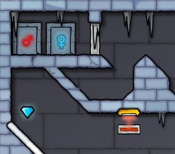 Игра Огонь и Вода 3: В Ледяном Храме онлайн