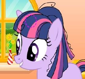 Игра Пони: Новогодняя Прическа Искорки онлайн