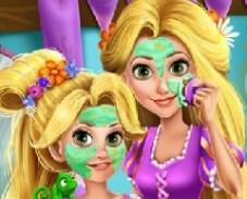 Игра Макияж Рапунцель и её Дочери онлайн