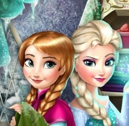 Игра Холодное Сердце: Эльза и Анна Модные Соперники онлайн