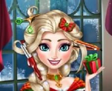 Игра Новогодние Реальные Прически Эльзы онлайн