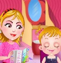 Игра Малышка Хейзел: Спа-макияж онлайн