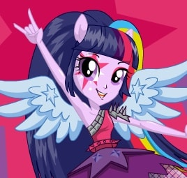 Игра Rainbow Rocks Твайлайт Спаркл Девушки Эквестрии онлайн
