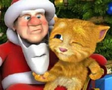 Игра Говорящий Санта и Рыжик онлайн