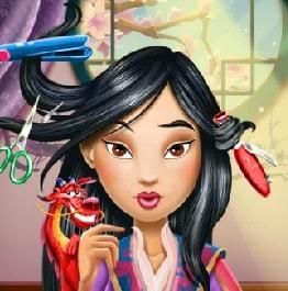 Игра Прическа для Принцессы Мулан онлайн