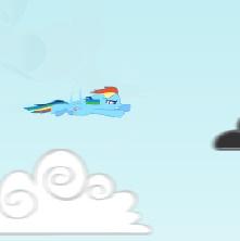 Игра Полет Рейнбоу Дэш в Облаках онлайн