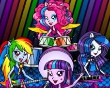 Игра Девушки Эквестрии: Три в Ряд онлайн