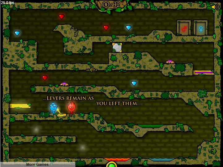 Огонь и Вода 1: Лесной храм онлайн